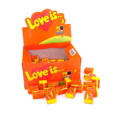 Жевательная резинка Love is… Апельсин-ананас 420г