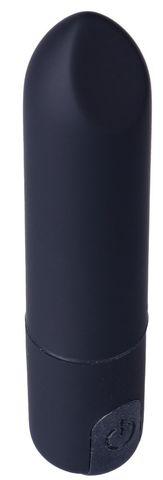 Черная гладкая коническая вибропуля - 8,5 см.