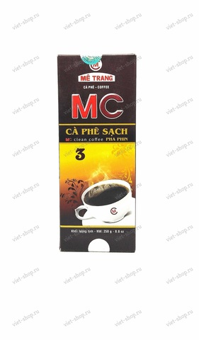 Вьетнамский молотый кофе Me Trang MC3 (strong caffeine), смесь 2-х сортов, 250 гр.