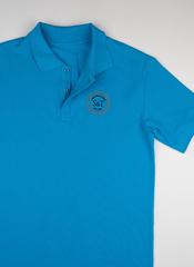 Поло S&T slim fit turquoise2102