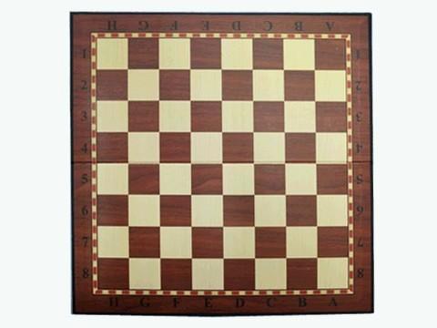 Доска картонная для игры в шахматы, шашки. Размер 33х33 см. :(Q033)