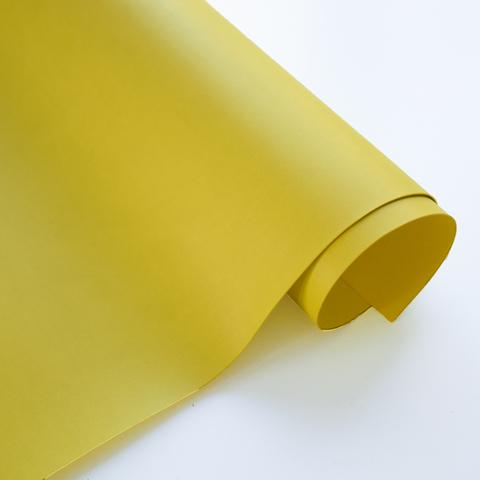 Кожзам переплетный матовый, желто-зеленый