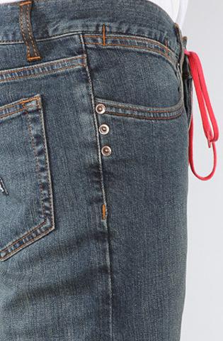 Джинсы на шнурке мужские зауженные фото 4