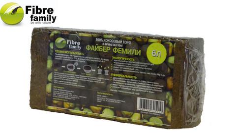 Торф кокосовый Fibre Family в брикетах 6 л