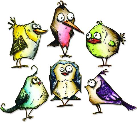 Печать на сахарной бумаге, Набор Птицы 2