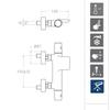 Смеситель термостатический для ванны с каскадным изливом TZAR 343901SNC никель - фото №2