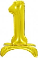К Шар цифра (32''/81 см) , 1 на подставке, Золото, 1 шт. в упак.