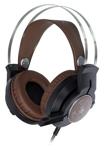 Наушники с микрофоном A4Tech Bloody G430 черный/коричневый 1.8м мониторные оголовье (G430 BROWN)