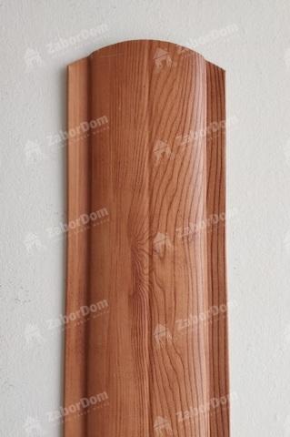 Евроштакетник металлический 102 мм Золотой орех полукруглый 0.45 мм