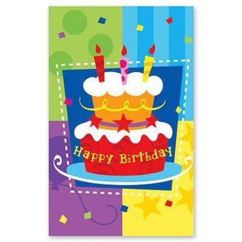 Скатерть п/э Торт Birthday 140х180см/G