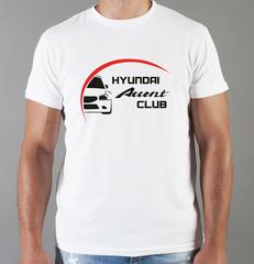 Футболка с принтом Хендай Акцент (Hyundai Accent) белая 008
