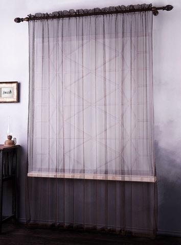 Готовая штора сетка Галлахад коричневый