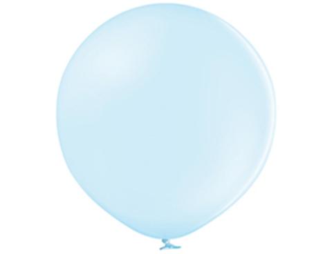 Большой воздушный шар макарунс голубой
