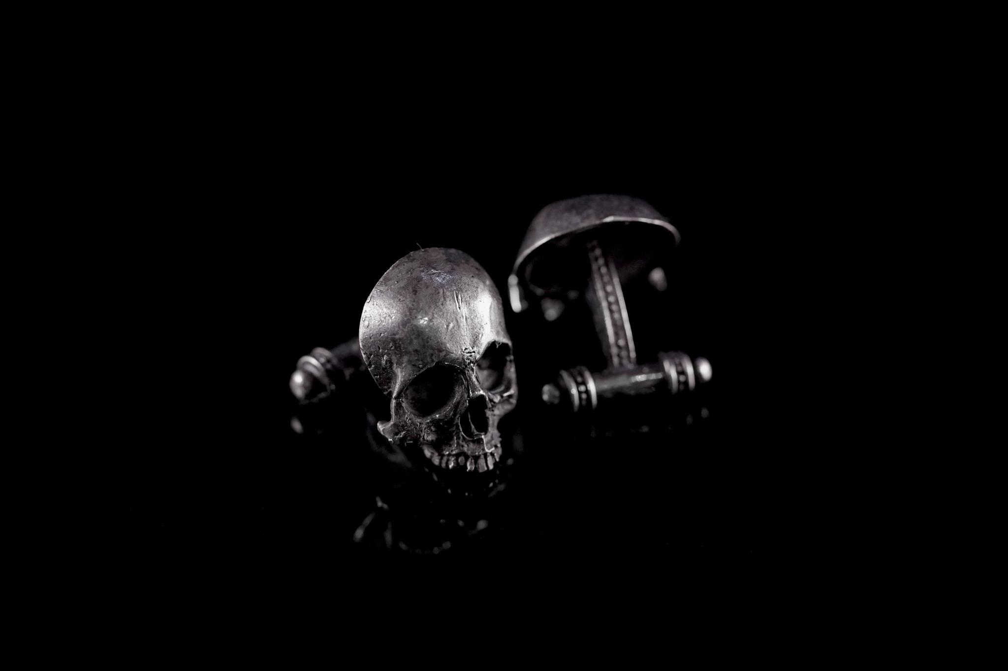 Запонки череп без челюсти