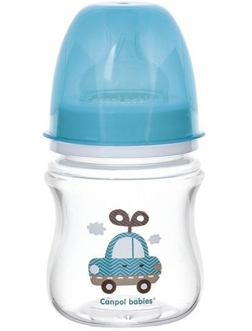 Бутылочка PP EasyStart (35/220) с широким горлышком антиколиковая, 120 мл, 3+ Toys, цвет: (голубой)