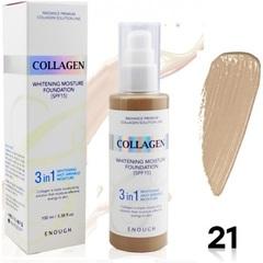 Увлажняющий тональный крем для лица с коллагеном Enough Collagen Moisture Foundation, тон 21