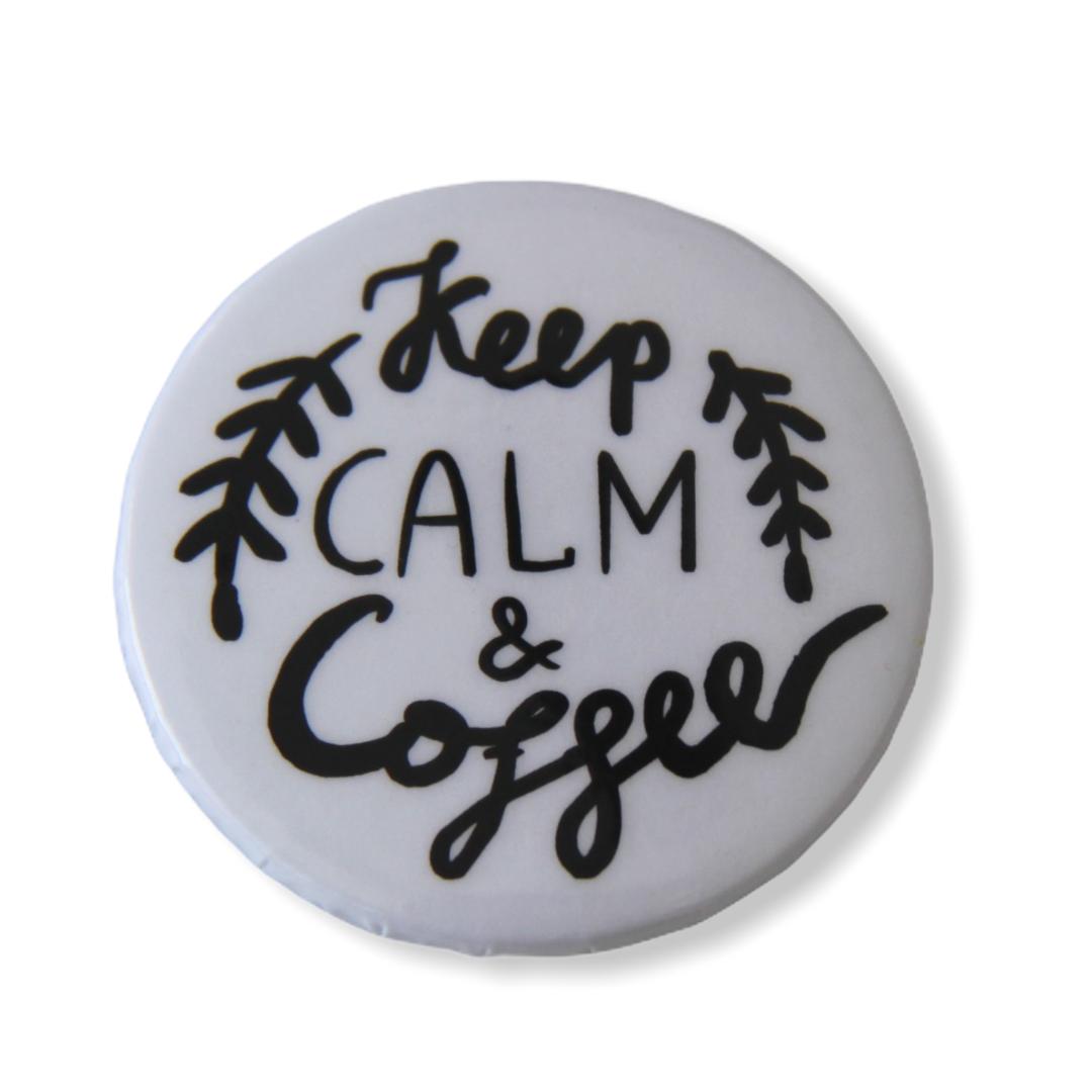 Значок Keep calm and coffee