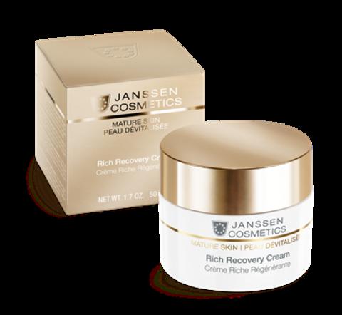 Обогащенный anti-age регенерирующий крем с комплексом Cellular Regeneration ,Janssen Rich Recovery Cream,50 мл