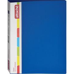 Папка на 4-х кольцах Attache 32 мм синяя до 150 листов (пластик 0.7 мм)