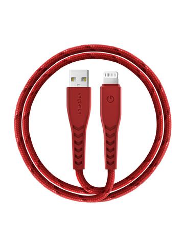 Кабель EnergEA NyloFlex | нейлон USB-A Lightning MFI C89 3А красный 1.5м