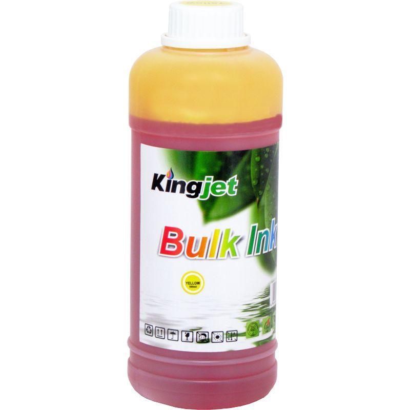Чернила Водорастворимые KingJet@ Premium Dye Ink R290 (CJDE006.500Y) 500мл., желтый (yellow), на водной основе.