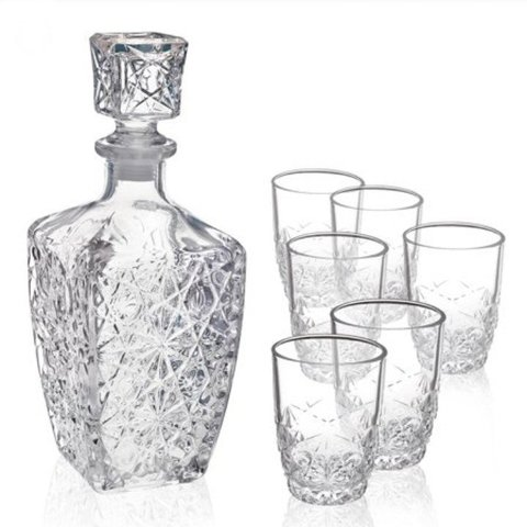 Набор  для водки «Dedalo», декантер 780 мл, 6 стаканов 85 мл