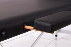 Массажный стол деревянный 3-хсекционный RESTPRO ALU 3L Black