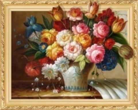 Алмазная Мозаика 5D 40x50 Цветы на столе (арт.LT0521)