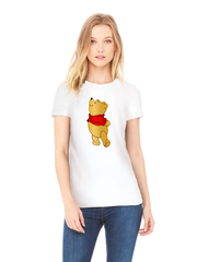 Футболка с принтом мультфильма Винни-Пух (Winnie the Pooh) белая w0010