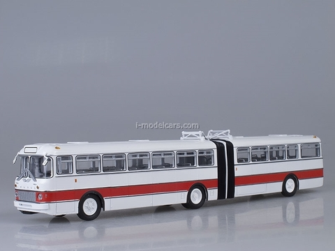 Ikarus-180 white-red Soviet Bus (SOVA) 1:43