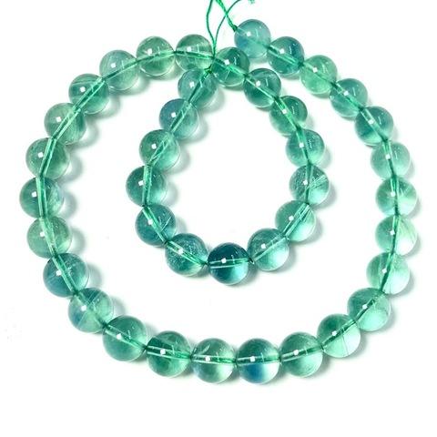 Бусины флюорит зеленый А шар гладкий 10 мм 20 бусин