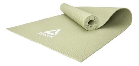 RAYG-11022GN Тренировочный коврик (мат) для йоги Reebok зеленый 4мм