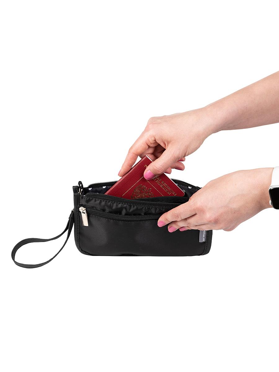 Органайзер для сумки SOFIA mini 22х13х4,5 см, 7 карманов, черный