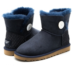 UGG Mini Bailey Button Perla Navy