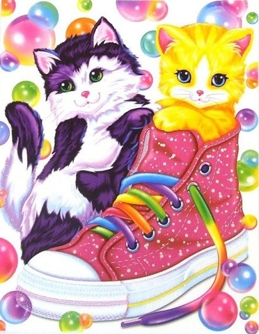 Алмазная Мозаика 20x30 Котята в ботинке