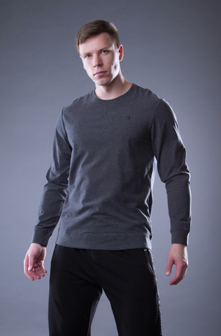 """Men's cotton sweater """"VELIKOROSS"""", color carbon"""