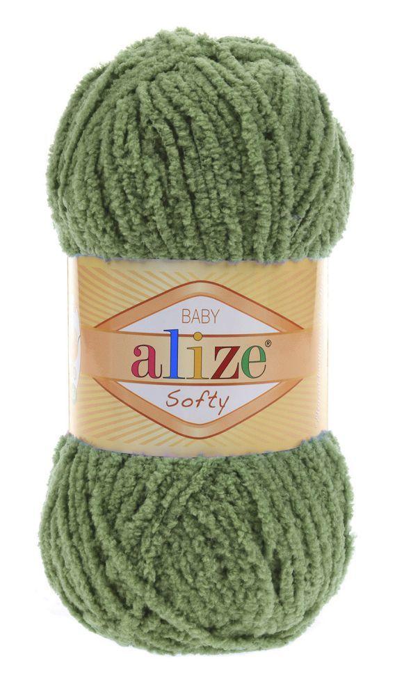 Пряжа Alize Softy зеленый 485