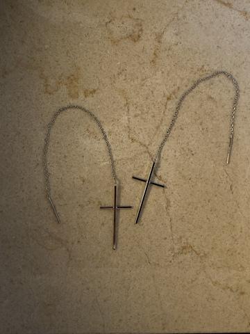 Серьги Кристиана, серебряный цвет