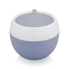Ланч-бокс круглый 14.8x14.8x12.1см/800мл, цвет Синий (пластик)