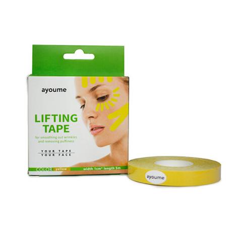 Тейп для лица 1см*5м желтый Kinesiology tape roll AYOUME