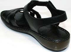 Босоножки из натуральной кожи Evromoda 15 Black.