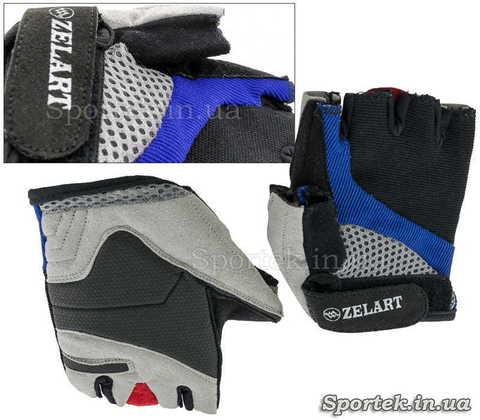 Перчатки для велоспорта и фитнеса с открытыми пальцами Zelard