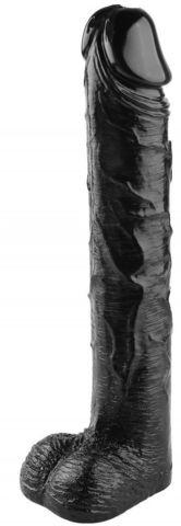 Черный фаллоимитатор-гигант - 51 см.