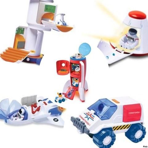 Вся серия! Космос наш: Космическая ракета, капсула, планетоход, шаттл, станция (63110, 63111, 63112, 63113, 63114)
