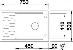 Мойка Blanco Elon XL 6 S Алюметаллик - схема