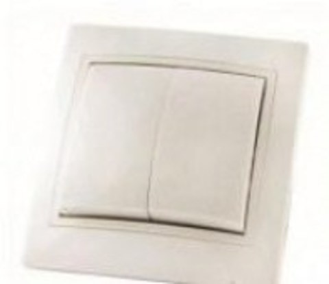 Выключатель 2 клав.Таймыр TDM 10А сл.кость