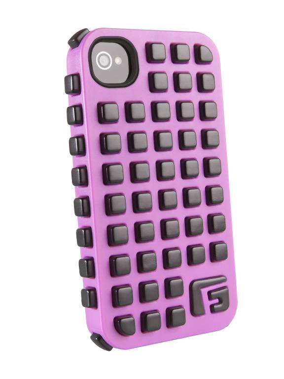 G-form Противоударный чехол для iPhone square 4/4S Pink Shell/Black RPT