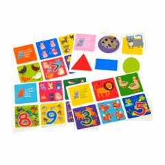 Пластиковое лото для малышей Счет и фигуры, подбери число Айрис Пресс