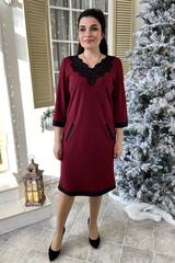 Марселина. Элегантное женское платье. Бордо