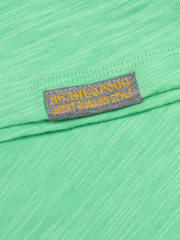 Женская футболка «Великоросс» мятного цвета
